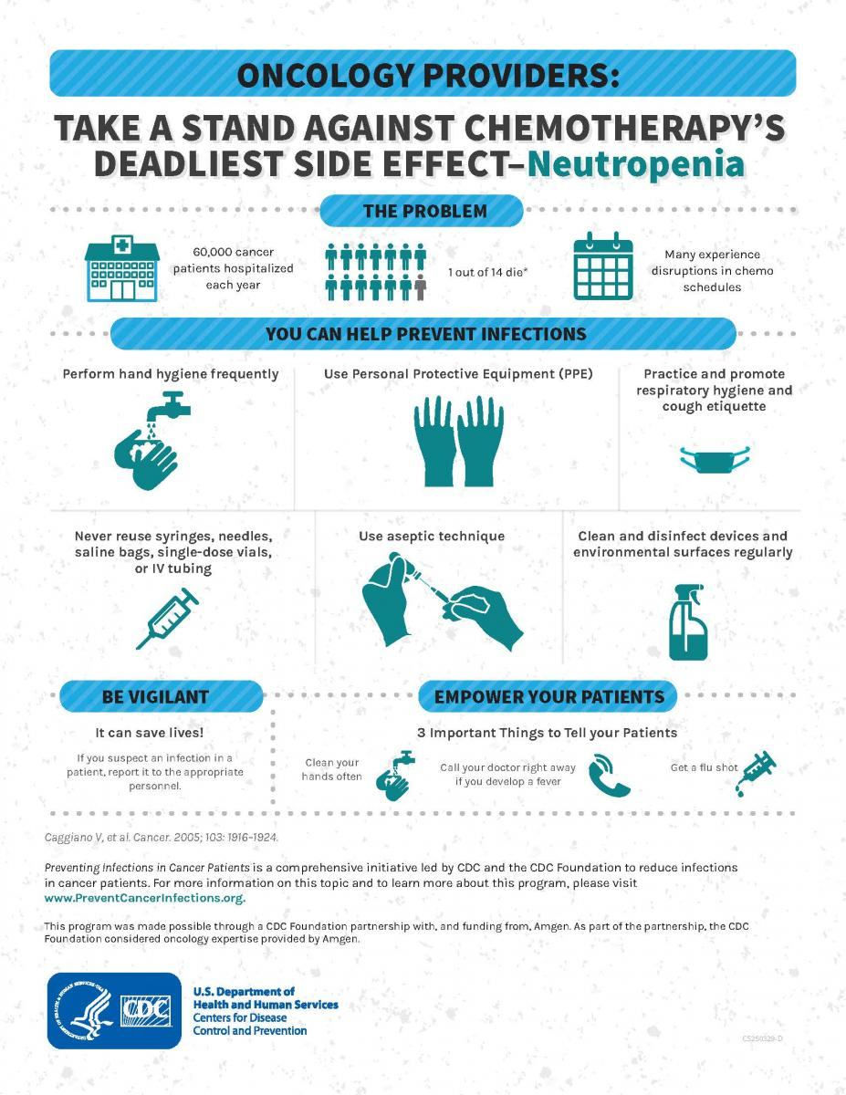 Oncology Providers: Take a Stand Against Chemotherapy's Deadliest Side Effect – Neutropenia fact sheet (PDF)