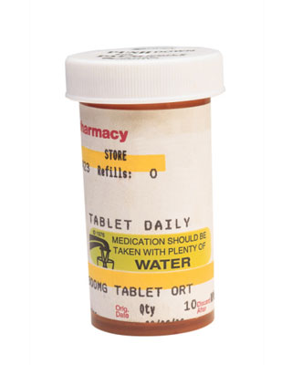 Photo of  a prescription medicine bottle